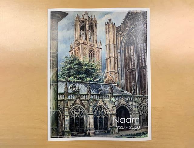 Unieke afbeelding van de Domtoren van Utrecht